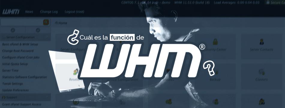 ¿Cuál es la función de WHM?