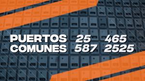 Números de puerto SMTP comunes